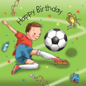 TW670 - Footballer Birthday Card Boys